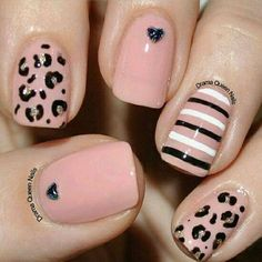 Drama Queen Nails: More fun with striping brushes Get Nails, Fancy Nails, Love Nails, Hair And Nails, Fabulous Nails, Gorgeous Nails, Pretty Nails, Queen Nails, Leopard Nails