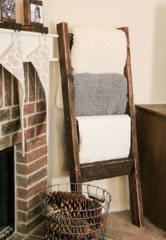 You can put together the wood to make a simple rack. You can use this rack for hanging towels in the bathroom, or in the kitchen just as well. It shows a form of simplicity and at the same time makes your home modern.