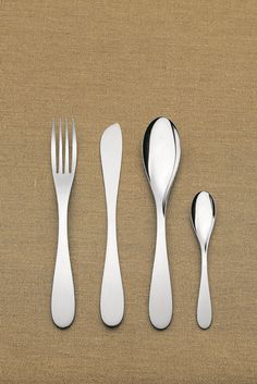 Alessi. 'eat.it' cutlery. Designed by Wiel Arets.