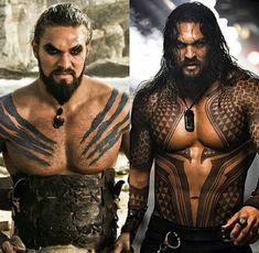 Drogo or Aquaman?  Me: Neither. I just want plain JASON MOMOA.