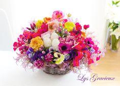 Sapporo, Flower Arrangement, Spring, Basket, Easter, Eggs, イースターアレンジメント, 札幌ポーセラーツ・フラワー・クレイLys Gracieux〜リスグラシュ〜#札幌#円山#lysgracieux#リスグラシュ#ポーセラーツ#クレイ#フラワー#ポーセリンアート#ハンドメイド#porcelainart#porcelarts#clay#flower#handmade#beautiful#