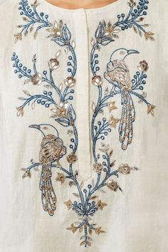 Indian Fashion Designers - Anita Dongre - Contemporary Indian Designer - The Erwin Suit - Hand Embroidery Dress, Embroidery Suits, Hand Embroidery Designs, Beaded Embroidery, Embroidery Stitches, Embroidery Patterns, Machine Embroidery, Cushion Embroidery, Zardosi Embroidery