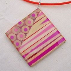 Jennifer Maestre, pencil slices jewlery
