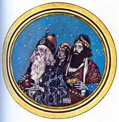 """O Star of Wonder, Star of Night"". Edmund Dulac. Edmund Dulac's Picture Book."