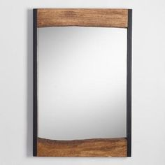 One of my favorite discoveries at WorldMarket.com: Small Walnut Brown Wood Leaner Mirror with Live Edge