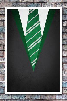 Minimal Slytherin Robe Poster - Harry Potter Art Print - 11x17. $13.99, via Etsy.