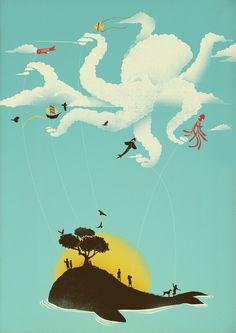 Beyond the Sea by Jay Fleck #artprints #animalart