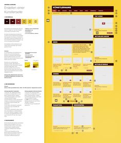 Categories section pages.  Interaction Design / Universal Music Group Germany on Behance