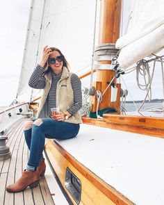 Great outfit...love the Patagonia vest and booties
