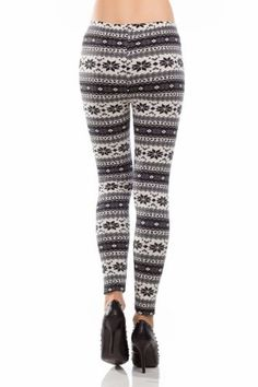Amour-Women Snowflake Christmas Pattern Ankle Length Legging One Size Multicolored (Regular, Black) Ankle Length Leggings, Women's Leggings, Cool Outfits, Casual Outfits, Christmas Leggings, Patterned Leggings, Autumn Winter Fashion, Winter Style, Fall Winter