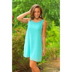 Made For Each Other Dress-Aqua - $49.00
