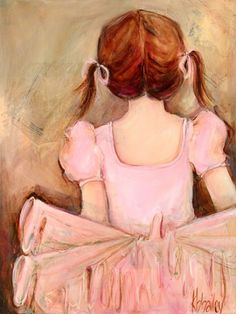 Oopsy Daisy Sweet Ballerina Wall Canvas by Kristina Bass Bailey: George and I both know we're almost guaranteed to have a baby with brown hair, and, we just love the colors used in this Sweet Ballerina Canvas Wall Art.  It's a beautiful addition to our baby girl's nursery.