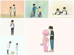 Cute Couple Comics, Couples Comics, Anime Couples, Cool Art Drawings, Beautiful Drawings, Chinese Tv Shows, Chines Drama, A Love So Beautiful, Cute Korean Boys