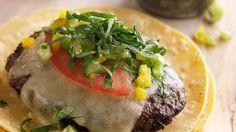 Latino Bison Burger with Tomatillo Salsa