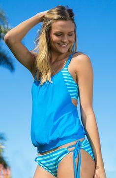 Blue crushin' on this Next Swimwear Double Up Tankini. Shop now >> swimspot.com
