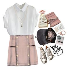 """""""#188 be classy"""" by dreamered ❤ liked on Polyvore featuring Chicwish, Orelia, Balmain, Monki, Converse and Bella Freud"""