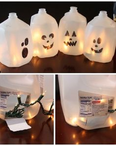 Milk Jug Ghosts - Easy and creative DIY project