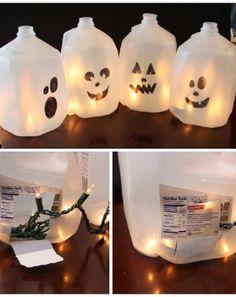 Milk Jug Ghosts - Easy and creative DIY project