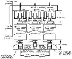 Johnson Hardware Multi-Pass Sliding Door Hardware.