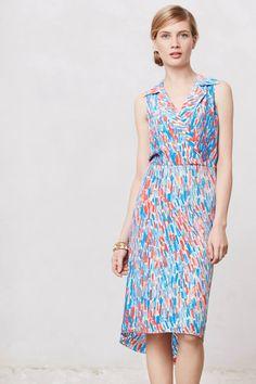 Brushstrokes Midi Dress - anthropologie.com