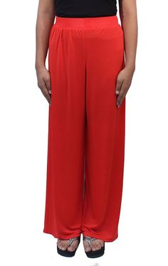 Romano Women's Orange Plazo Pant ** This is an Amazon Affiliate link. Click image to review more details.
