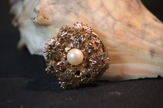 Vintage West German Faux Pearl Scarf Clip. Starting at $7 on Tophatter.com!