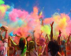 Holi festival of color, friendship, love between all the people.