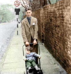 George Orwell and adopted son Richard c 1946 George Orwell, Authors, Sons, Adoption, Style, Fashion, Foster Care Adoption, Swag, Moda