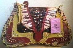 Hot Hollywood Handbag Guitar Purse NWT Animal Print Bling Western New #HotinHollywood #GuitarStyleSatchel