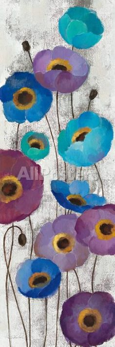 Cute flower painting. Bold Anemones Panel II Art by Silvia Vassileva at AllPosters.com