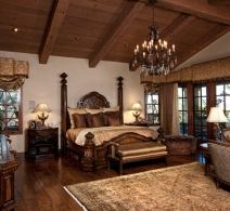 Mediterranean Master Bedroom Design Pictures Remodel Decor and Ideas page 1 Dream Master Bedroom, Farmhouse Master Bedroom, Master Bedroom Design, Home Bedroom, Bedroom Decor, Warm Bedroom, Master Suite, Bedroom Ideas, Architect House