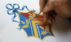 Painstaking process: After much discussion about the design Herald Painter Robert Parsons, sketches the Coat of Arms for the Middleton family Kate Middleton Coat, Kate Middleton Family, Carole Middleton, Renaissance Time, Pippa And James, Family Crest, Coat Of Arms, Stone Art, Art Studios