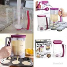 Pancake /muffin batter dispenser. Easy to use with no spillage or mess. #Coolgadgets #kitchenproducts #cleankitchen #Pancake #Dispenser Room Accessories, Fireplace Accessories, Cool Gadgets On Amazon, Wine Barrel Coffee Table, Instax Mini Camera, Custom Embroidered Patches, Best Kitchen Knives, Pet Food Storage, Pancake Stack