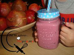 Smoothie με ρόδι! Mason Jars, Mugs, Tableware, Dinnerware, Cups, Mug, Dishes, Mason Jar, Glass Jars
