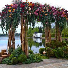 28 Ideas Wedding Backdrop Ceremony Entrance For 2019 Wedding Ceremony Backdrop, Wedding Stage, Wedding Dj, Garden Wedding, Floral Wedding, Rustic Wedding, Trendy Wedding, Wedding Flowers, Wedding Venues