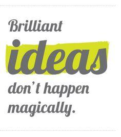 Briliant ideas and magic