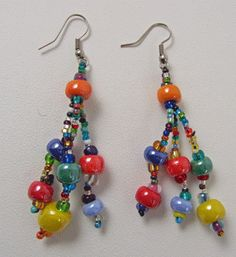 Guatemalan Beaded Earrings
