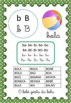 Paula Batista's media content and analytics Portuguese Lessons, Learn Portuguese, Supernanny, Preschool Writing, Homeschool, Classroom, Teaching, Banana, Prints