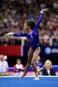 THIS GIRL! :) Gabrielle Douglas, USA Olympic Champion. She was my favorite from the start of the Olympics. I love how happy she is when she does gymnastics.