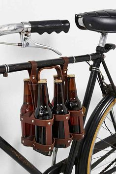 Bike beer bottle holder