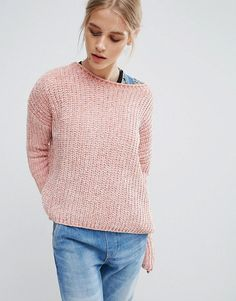 Get this Pepe Jeans's knit pullover now! Click for more details. Worldwide shipping. Pepe Jeans Chana Knit Jumper - Pink: Jumper by Pepe Jeans, Chunky chenille knit, Super soft-touch finish, Boat neck, Dropped shoulders, Ribbed trims, Regular fit - true to size, Machine wash, 100% Polyester, Our model wears a UK S/EU S/US XS and is 173cm/5'8 tall. The pipedream of three brothers, Pepe Jeans began on London's hip Portobello Market, armed only with their premium quality, great fitting jeans…