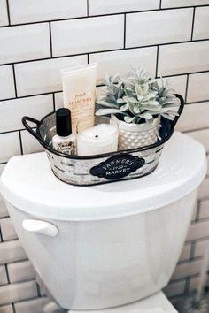 Home Decor Apartment Farmhouse bathroom decorating ideas - cheap farmhouse decor ideas for decorating your home on a budget.Home Decor Apartment Farmhouse bathroom decorating ideas - cheap farmhouse decor ideas for decorating your home on a budget Boho Bathroom, Master Bathroom, Black Bathroom Decor, Basement Bathroom, Bathroom Lighting, Bathroom Inspo, Open Basement, Silver Bathroom, Bathroom Layout
