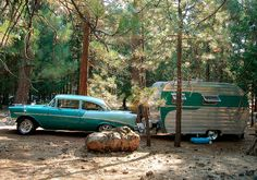 50's-style camping
