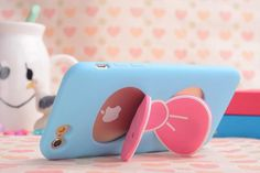 3D Cartoon Butterfly stand Silicone Case For iphone 6 6s 6plus 7 7 plus back Cover Soft TPU Cases For iphone 7 mobile phone case