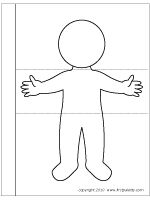 Download the full page body flipbook template Lap Book Templates, Templates Printable Free, Free Printables, Person Template, Body Template, Body Preschool, Fall Preschool, Exquisite Corpse, Kids Class