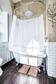 Image 13 of 27 from gallery of The Chapel on the Hill / Evolution Design. Courtesy of Evolution Design Evolution Design, Chapel Conversion, Church Conversions, Architecture Baroque, Large Baths, House On A Hill, Chapelle, Beautiful Bathrooms, Shower Tub