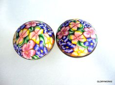 SET OF 8 Polymer Clay Cabinet Knobs/Pulls Pastel by gloryworks