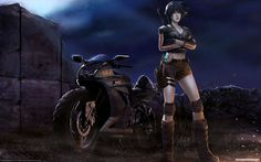 Картинки по запросу девушка байкер рисунок