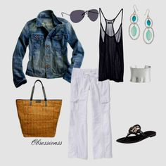 summer outfit with linen pants