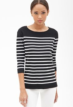 Striped Knit Sweater | WOMEN | Forever 21  (i mainly want this because its similar to the one ezra koenig wore lol)
